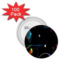 Glare Light Luster Circles Shapes 1 75  Buttons (100 Pack)  by Simbadda