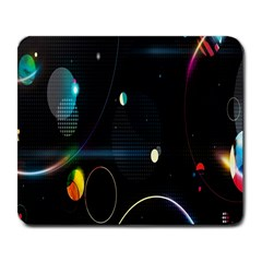 Glare Light Luster Circles Shapes Large Mousepads by Simbadda