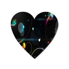 Glare Light Luster Circles Shapes Heart Magnet by Simbadda
