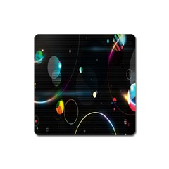 Glare Light Luster Circles Shapes Square Magnet by Simbadda