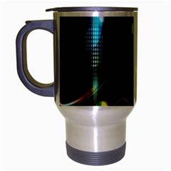 Glare Light Luster Circles Shapes Travel Mug (silver Gray) by Simbadda