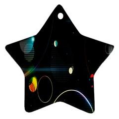 Glare Light Luster Circles Shapes Star Ornament (two Sides) by Simbadda