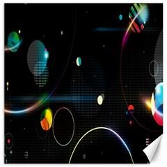 Glare Light Luster Circles Shapes Canvas 16  X 16   by Simbadda