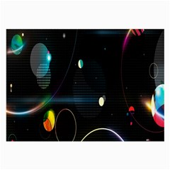 Glare Light Luster Circles Shapes Large Glasses Cloth by Simbadda