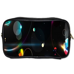Glare Light Luster Circles Shapes Toiletries Bags 2 Side