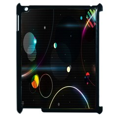 Glare Light Luster Circles Shapes Apple Ipad 2 Case (black) by Simbadda