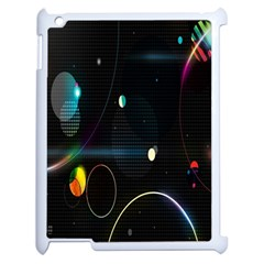 Glare Light Luster Circles Shapes Apple Ipad 2 Case (white) by Simbadda