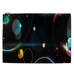 Glare Light Luster Circles Shapes Cosmetic Bag (xxl)  by Simbadda