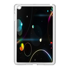 Glare Light Luster Circles Shapes Apple Ipad Mini Case (white) by Simbadda