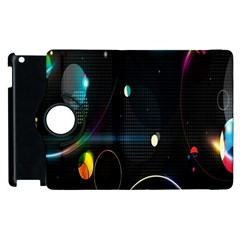 Glare Light Luster Circles Shapes Apple Ipad 2 Flip 360 Case by Simbadda