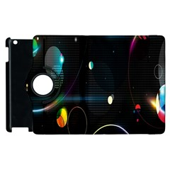 Glare Light Luster Circles Shapes Apple Ipad 3/4 Flip 360 Case by Simbadda