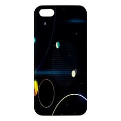 Glare Light Luster Circles Shapes Apple Iphone 5 Premium Hardshell Case by Simbadda