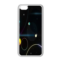 Glare Light Luster Circles Shapes Apple Iphone 5c Seamless Case (white) by Simbadda