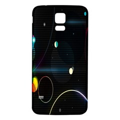 Glare Light Luster Circles Shapes Samsung Galaxy S5 Back Case (white) by Simbadda