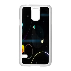 Glare Light Luster Circles Shapes Samsung Galaxy S5 Case (white) by Simbadda