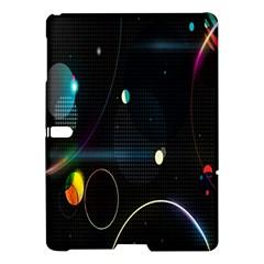 Glare Light Luster Circles Shapes Samsung Galaxy Tab S (10 5 ) Hardshell Case  by Simbadda