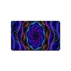 Flowers Dive Neon Light Patterns Magnet (name Card) by Simbadda