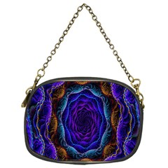 Flowers Dive Neon Light Patterns Chain Purses (one Side)  by Simbadda