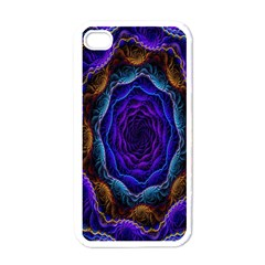 Flowers Dive Neon Light Patterns Apple Iphone 4 Case (white) by Simbadda