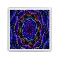 Flowers Dive Neon Light Patterns Memory Card Reader (square)  by Simbadda