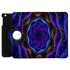 Flowers Dive Neon Light Patterns Apple Ipad Mini Flip 360 Case by Simbadda