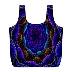 Flowers Dive Neon Light Patterns Full Print Recycle Bags (l)  by Simbadda