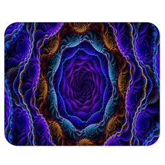 Flowers Dive Neon Light Patterns Double Sided Flano Blanket (medium)  by Simbadda