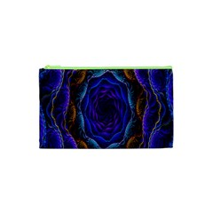 Flowers Dive Neon Light Patterns Cosmetic Bag (xs) by Simbadda