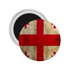 Georgia Flag Mud Texture Pattern Symbol Surface 2 25  Magnets by Simbadda