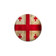 Georgia Flag Mud Texture Pattern Symbol Surface Golf Ball Marker (10 Pack) by Simbadda