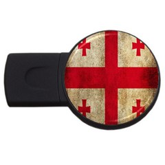 Georgia Flag Mud Texture Pattern Symbol Surface Usb Flash Drive Round (2 Gb)