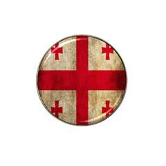 Georgia Flag Mud Texture Pattern Symbol Surface Hat Clip Ball Marker by Simbadda