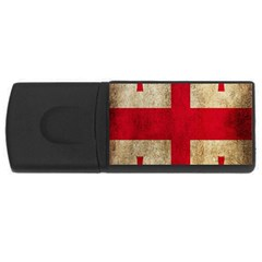 Georgia Flag Mud Texture Pattern Symbol Surface Usb Flash Drive Rectangular (4 Gb) by Simbadda