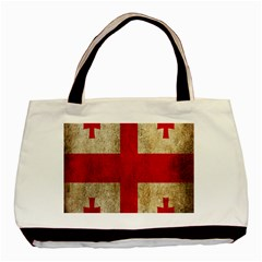 Georgia Flag Mud Texture Pattern Symbol Surface Basic Tote Bag (two Sides) by Simbadda