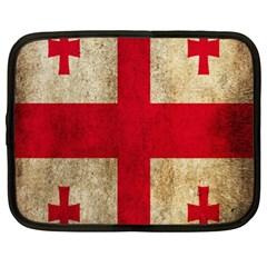 Georgia Flag Mud Texture Pattern Symbol Surface Netbook Case (xl)