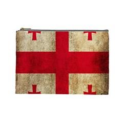Georgia Flag Mud Texture Pattern Symbol Surface Cosmetic Bag (large)
