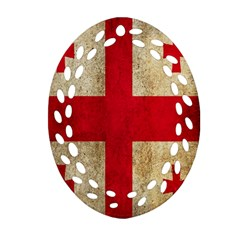 Georgia Flag Mud Texture Pattern Symbol Surface Oval Filigree Ornament (two Sides) by Simbadda