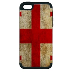 Georgia Flag Mud Texture Pattern Symbol Surface Apple Iphone 5 Hardshell Case (pc+silicone) by Simbadda