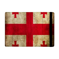 Georgia Flag Mud Texture Pattern Symbol Surface Apple Ipad Mini Flip Case by Simbadda