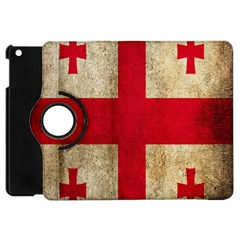 Georgia Flag Mud Texture Pattern Symbol Surface Apple Ipad Mini Flip 360 Case by Simbadda
