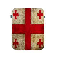 Georgia Flag Mud Texture Pattern Symbol Surface Apple Ipad 2/3/4 Protective Soft Cases by Simbadda