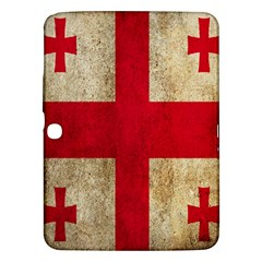 Georgia Flag Mud Texture Pattern Symbol Surface Samsung Galaxy Tab 3 (10 1 ) P5200 Hardshell Case  by Simbadda