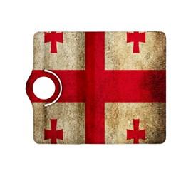 Georgia Flag Mud Texture Pattern Symbol Surface Kindle Fire Hdx 8 9  Flip 360 Case by Simbadda