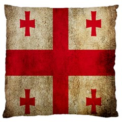 Georgia Flag Mud Texture Pattern Symbol Surface Large Flano Cushion Case (two Sides) by Simbadda