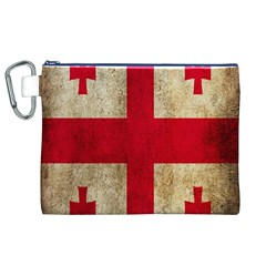 Georgia Flag Mud Texture Pattern Symbol Surface Canvas Cosmetic Bag (xl) by Simbadda