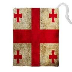 Georgia Flag Mud Texture Pattern Symbol Surface Drawstring Pouches (xxl) by Simbadda
