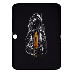Humor Rocket Ice Cream Funny Astronauts Minimalistic Black Background Samsung Galaxy Tab 3 (10 1 ) P5200 Hardshell Case  by Simbadda