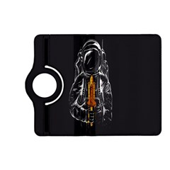 Humor Rocket Ice Cream Funny Astronauts Minimalistic Black Background Kindle Fire Hd (2013) Flip 360 Case by Simbadda