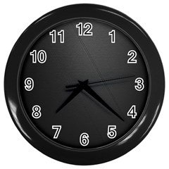 Leather Stitching Thread Perforation Perforated Leather Texture Wall Clocks (black)