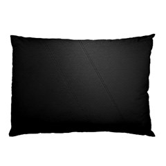 Leather Stitching Thread Perforation Perforated Leather Texture Pillow Case by Simbadda